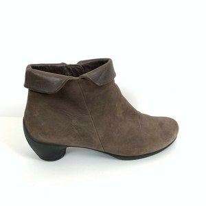 Ecco Ankle Boots 40 Womens Comfort Leather
